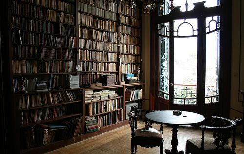 home library art nouveau