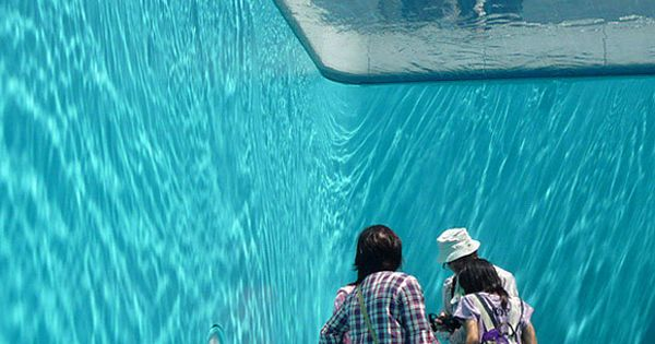 Creative art installation by Leandro Erlich features what appears to be a