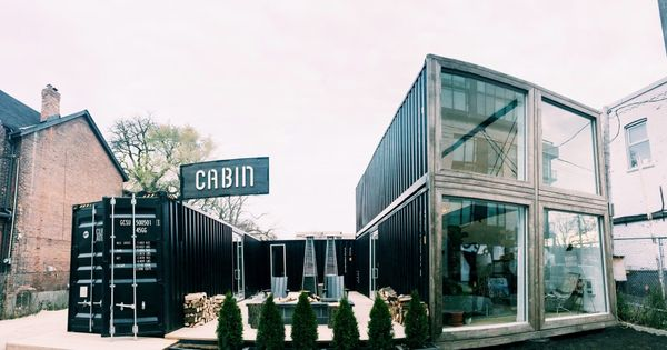 Cabin toronto a collaboration between raw design and giant container services giant - Shipping container homes toronto ...