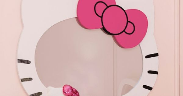 Hello Kitty Wall Mirror  Beauty salon ideas  Pinterest  Wall ...