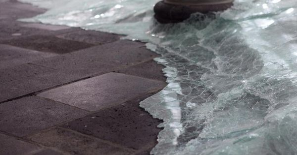supersonic electronic / art - Broken glass installation by Baptiste Debombourg.