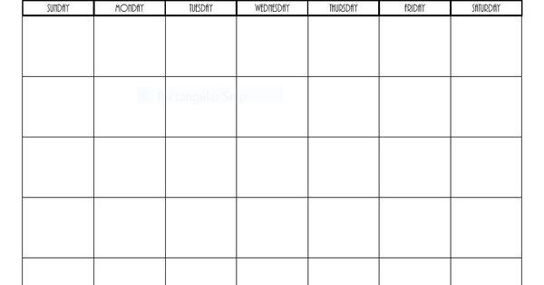 Free Printable Blank Monthly Calendars - 2017, 2018, 2019 ...