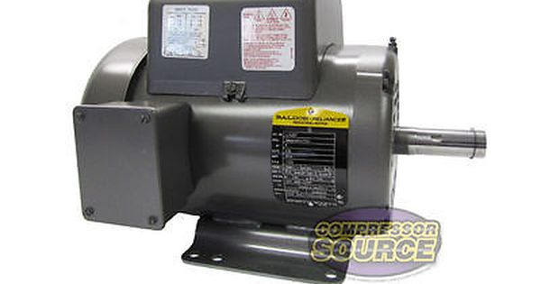 5 Hp Single Phase Baldor Electric Compressor Motor 184t Frame L1430t 230 Volt Business Industrial Automation Motor Electric Compressor Electricity Frame