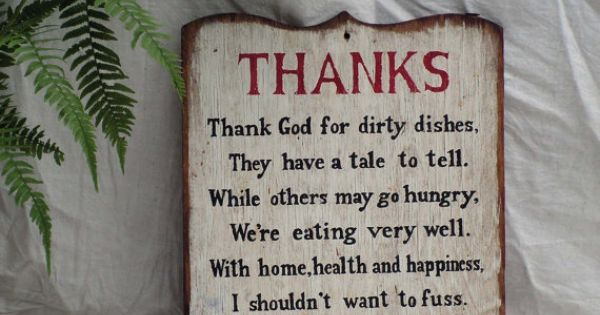Dirty Dishes Prayer Plaque Vintage Kitchen 1960s