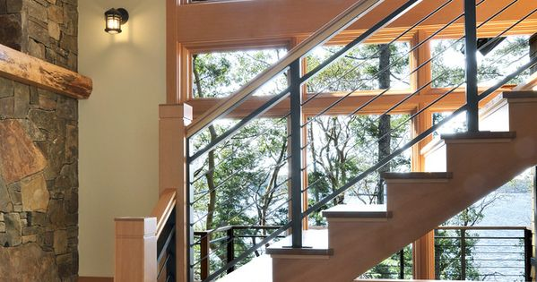 Best Stair Railing Ideas Staircase Rustic With Black Railing 400 x 300