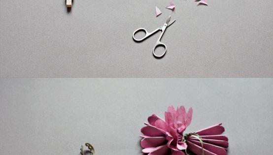tissue flower pom pom