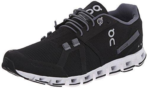 On Cloud Women Running Shoes Black//White