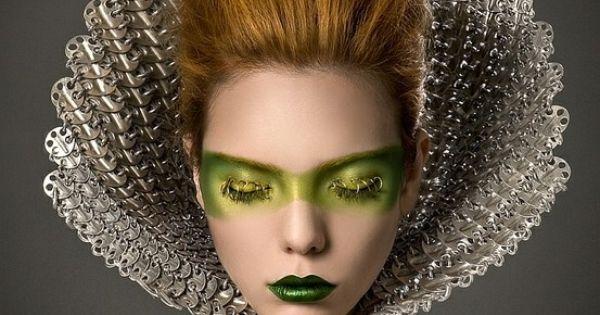 avant garde future girl futuristic fashion hairstyle