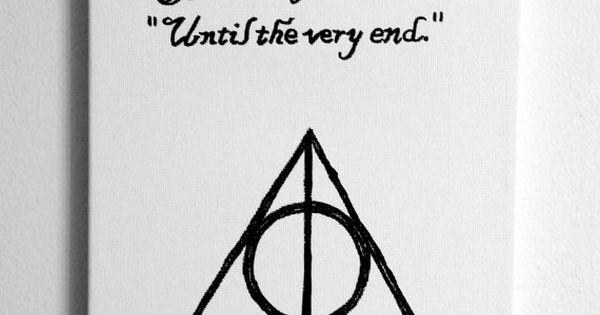 Harry Potter Until The Very End Quote Quora: Until The Very End Harry Potter Quote Canvas Print