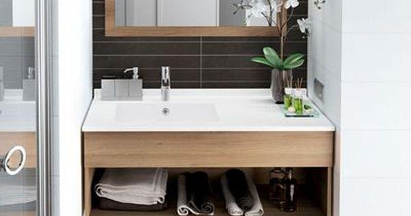 Meuble salle bain bois design ikea lapeyre poudre for Mini etagere salle de bain
