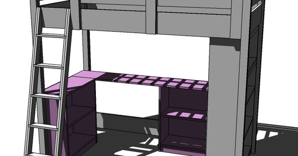 Tiny Home Designs: Build A Loft Bed Small Bookcase And Desk
