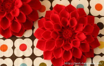 2 425x270 71kb Felt Flower Tutorial Flower Crafts Crafts