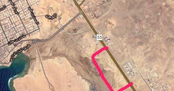 ارض للبيع في الوجه مساحتها 390 الف قريبه من مطار الوجه Map