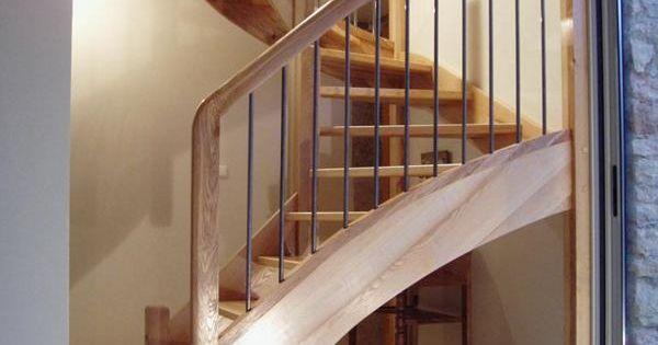 escalier bois balustres inox escalier en fr ne olivier. Black Bedroom Furniture Sets. Home Design Ideas