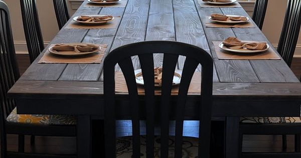 DIY Farmhouse Table -- this might be the answer for us to