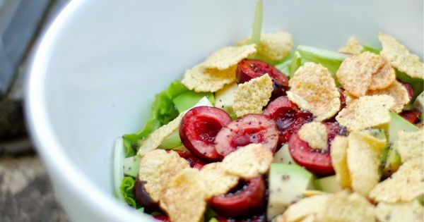 Salad with avocado, Cherries and Salads on Pinterest