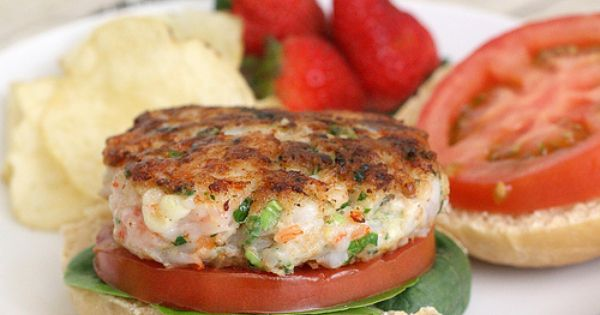 Shrimp burger, Burgers and Shrimp on Pinterest