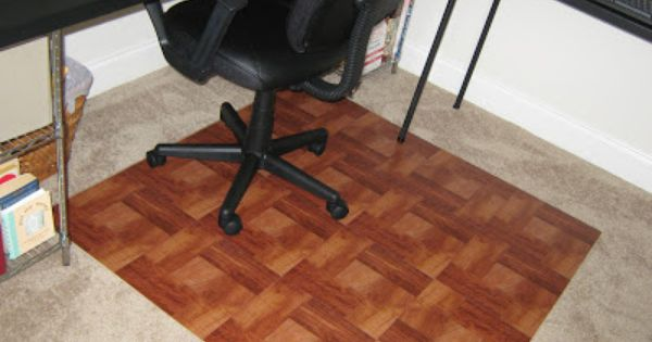 Fake It Frugal Diy Wooden Office Chair Mat Office Chair Mat Wooden Office Chair Chair Mats
