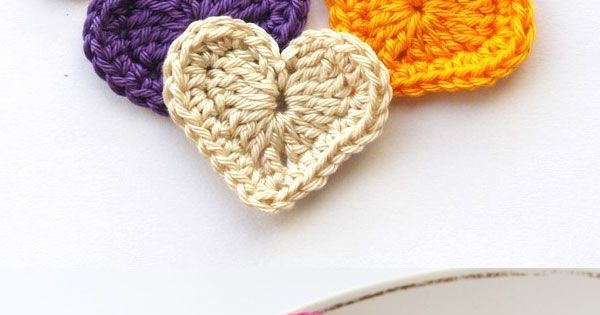 Crochet Hearts First, make a magic ring. Then, chain 4. Then inside