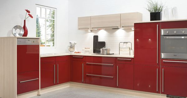 Küche in Rot Eckküche kuechen