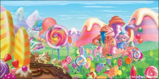 Candyland backdrop backdrops nutcracker for Candyland wall mural