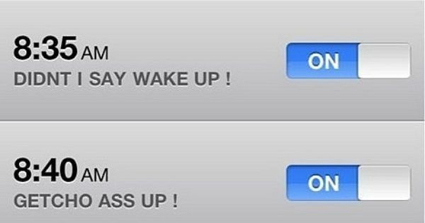 So true! This looks exactly like my phone's alarm clock