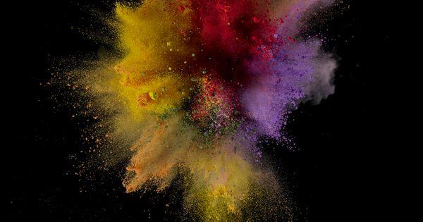Pin By Ilikewallpaper Ios Wallpaper On Ipad Wallpapers: Colorful Dust Smoke Burst Explosion Art IOS9 Wallpaper