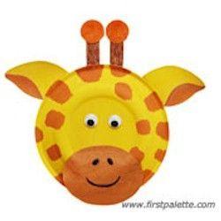 Paper Plate Giraffe Giraffe Crafts Animal Crafts For Kids