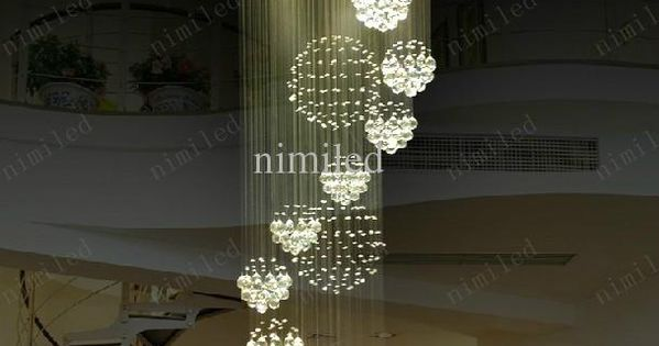 nimi115 dia 80cm 100cm 120cm led kristalllicht gewundenes treppenhaus lampen h ngendes. Black Bedroom Furniture Sets. Home Design Ideas