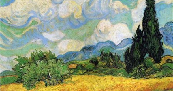 Vincent van Gogh Painting, Oil on Canvas Saint-Rémy: June - late in