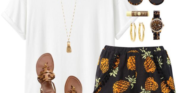 Pineapple shorts so cute♡ Clothes Casual Outfit for • teens • movies