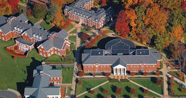 Aerial View Of Tcnj Campus The College Of New Jersey In Ewing