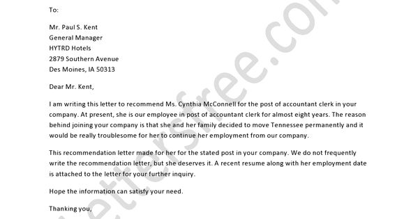 Professional Recommendation Letter Sample: Sample Professional Recommendation Letter Is Written To