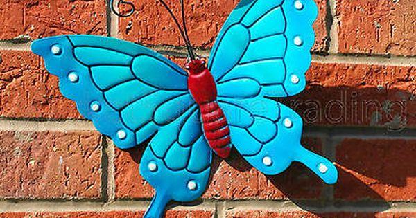 Butterfly Large New Blue Metal Butterflies Wall Art Outdoor