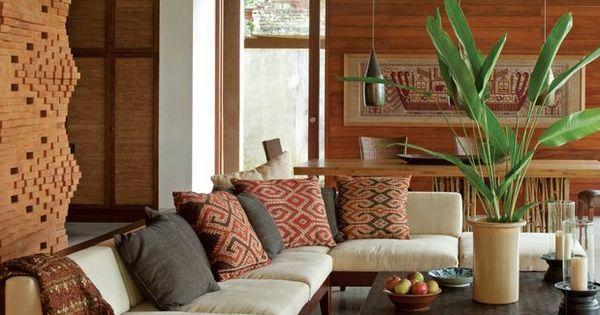 Living Rooms Balinese Interior Design Bali Style Brick