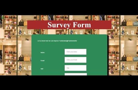 Build A Survey Form Part 2 Responsive Web Design Projects Freecodecamp In 2020 Web Development Design Modern Web Design Web Design Projects