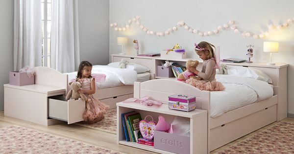 Habitaci n rosa con muebles infantiles asoral compras - Habitacion infantil rosa ...