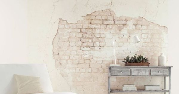 This Distressed Brick Wall Effect Wallpaper Mural Is