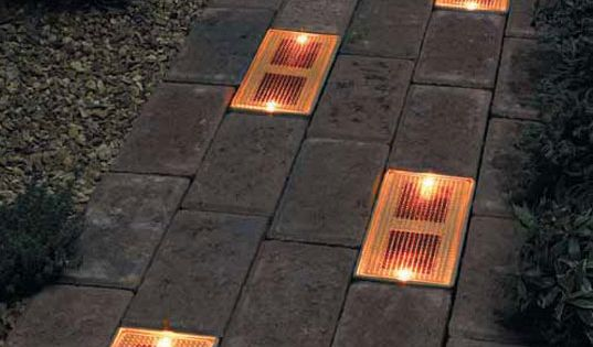 sun bricks- a solar powered ground lighting system to guide people to