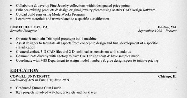 Exhibition Stall Checklist : Jewelry designer resume example resumecompanion