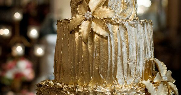 Gold Cake, would also serve well as a 50th Wedding Anniversary Celebration