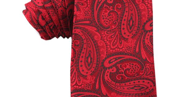 Paisley Red Maroon with Black Tie | Neckties | Australian Designer Ties $35 | Australia | OTAA
