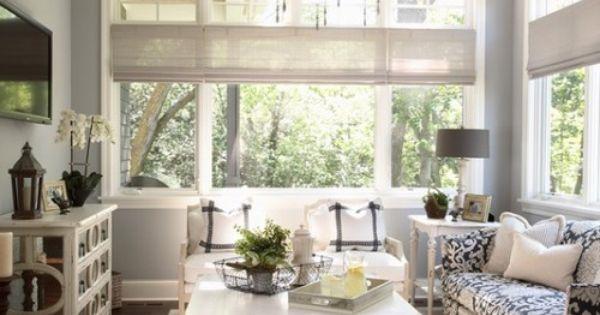 Like the window treatments (Benjamin Moore - Wickham Gray wall color)
