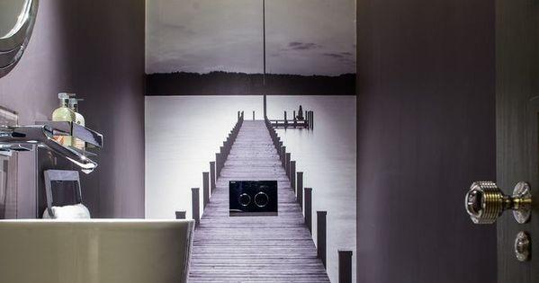 trompe l oeil mural interieur with contemporain toilettes trompe l oeil pinterest trompe. Black Bedroom Furniture Sets. Home Design Ideas