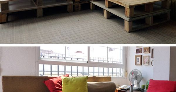 pallet sofa, great idea for our back porch! :)