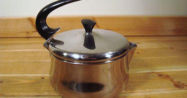 Vintage Farberware 2 Qt Stainless Steel Tea Kettle Sauce
