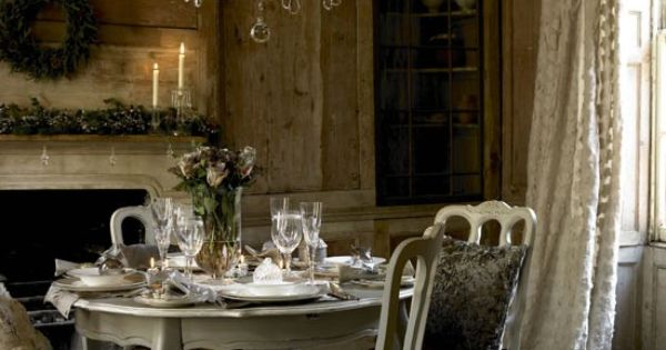 Dining room23 French Country Decorating Ideas Pinterest Rustic Walls Room And Walls