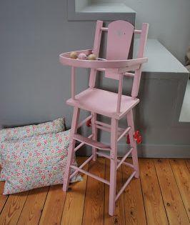 Atelier Petit Toit Ancienne Chaise Haute De Poupee Novembre 13 Chaise Haute Poupee Chaise Haute Chaise Bebe