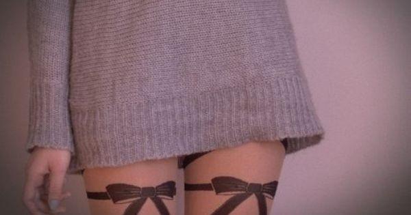 Bow tattoo idea :)