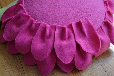 Come Together Kids Fleece Flower Petal Pillows Diy Flower Pillow Felt Flower Pillow Pillows Flowers